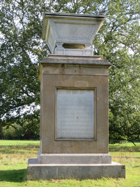 Thomas Grays Monument. Eigenes Foto.