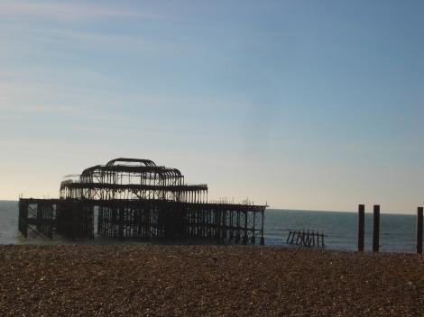 Die traurigen Reste der West Pier in Brighton. Eigenes Foto.