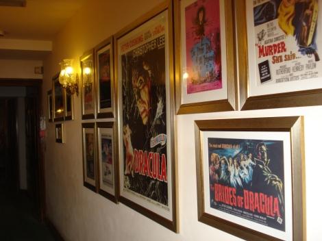 Hinweis auf die Filme, die hier im Haus gedreht wurden. Eigenes Foto.