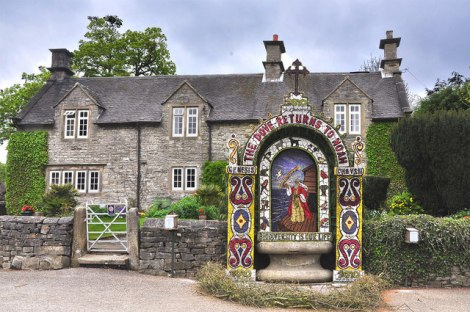 Well Dressing in Tissington-   © Copyright Mick Lobb and licensed for reuse under this Creative Commons Licence.