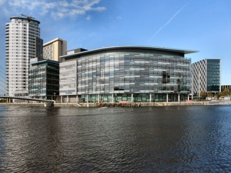 Media City in Salford.    © Copyright David Dixon and   licensed for reuse under this Creative Commons Licence.