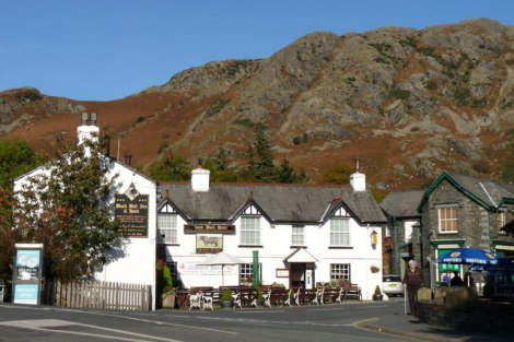 The Black Bull in Coniston.    © Copyright Peter Trimming and   licensed for reuse under this Creative Commons Licence.
