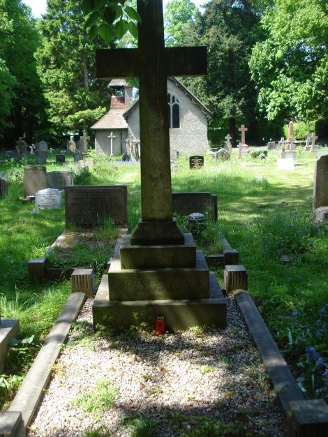 Fern Lane Cemetery in Little Marlow, letzte Ruhestätte von Edgar Wallace. Eigenes Foto.