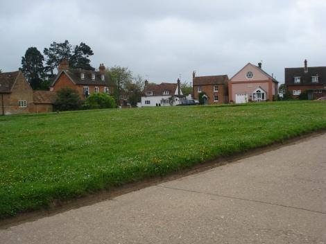Hier auf dem Village Green fand der Skimmington Ride statt. Eigenes Foto.