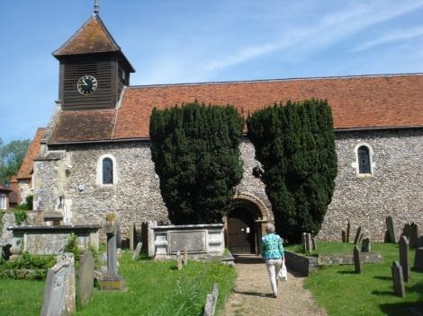 Die Dorfkirche von Hurley. Eigenes Foto.