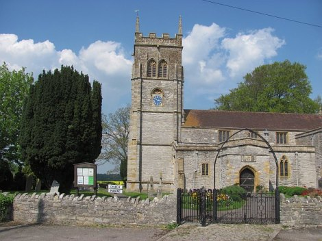 St Mary's Church in Chedzoy.   © Copyright Richard Webb