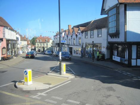 Der Marktplatz von Great Dunmow (Essex).   © Copyright John Firth