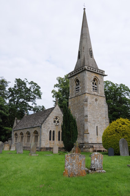 St Mary in Lower Slaughter.   © Copyright Philip Halling