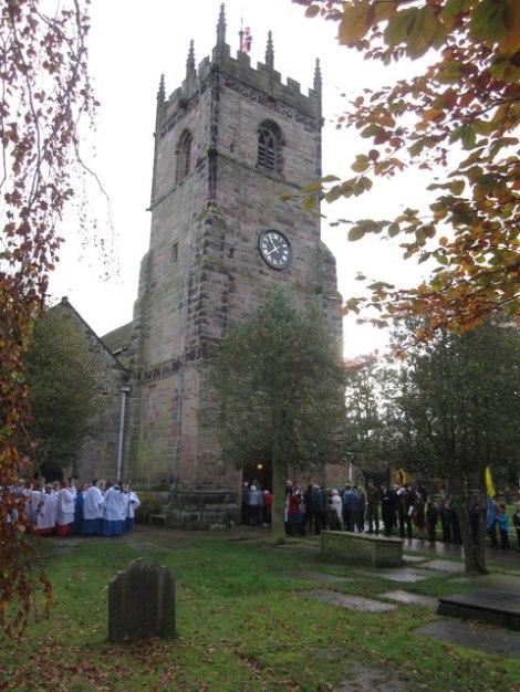 St Peter's in Prestbury (Cheshire).  © Copyright Peter Turner