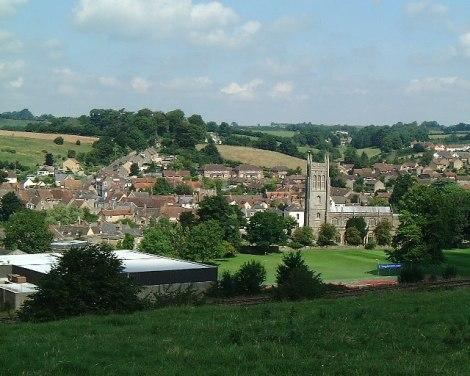 Blick auf Bruton in Somerset.  © Copyright Nigel Freeman