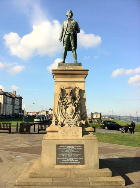 Statue von James Cook in Whitby.    © Copyright Andrew Abbott