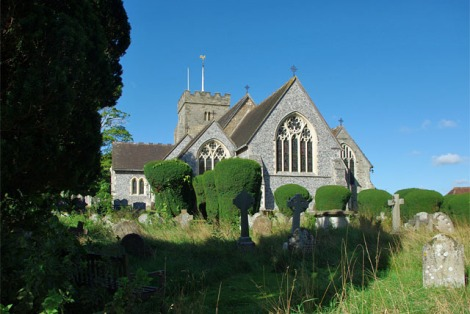 Die St Peter's Church in Henfiled (West Sussex).    © Copyright Robin Webster