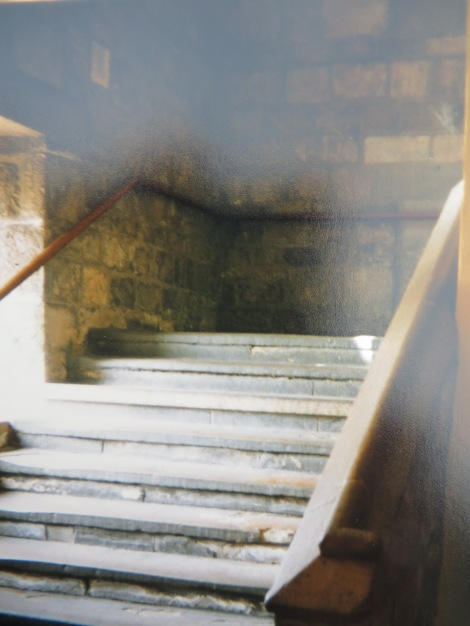 Eine gruselige Treppe im King's Manor. Eigenes Foto.