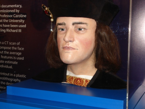 Das rekonstruierte Gesicht Richards III. Eigenes Foto.