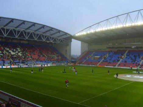 Das DW Stadium, Heimat des Wigan Athletics Fußballclubs.   © Copyright Gareth Dawkins