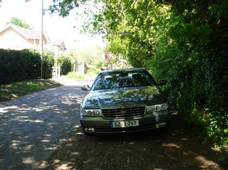 Ich parkte hier am Fern Lane und ging die wenigen Schritte zum Fern Lane Cemetery. Eigenes Foto.