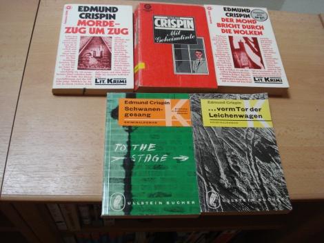 Meine Sammlung von Edmund Crispin-Krimis. Eigenes Foto.