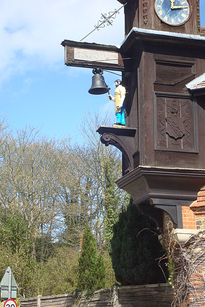 The Abinger Hammer Clock. This work has been released into the public domain.