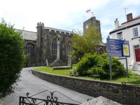 St Mary's Church in Bideford (Devon).   © Copyright Roger A Smith
