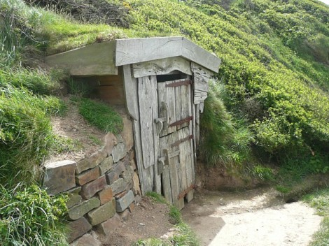 Hawker's Hut in Morwenstow.    © Copyright Humphrey Bolton