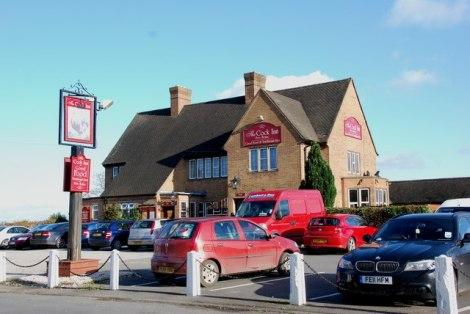 Der damals verwüstete und wieder aufgebaute Cock Inn in Hanbury (Staffordshire).   © Copyright Mick Malpass and   licensed for reuse under this Creative Commons Licence.