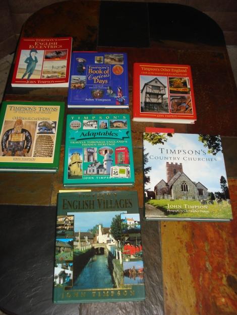 Foto von einigen meiner Timpson-Bücher.