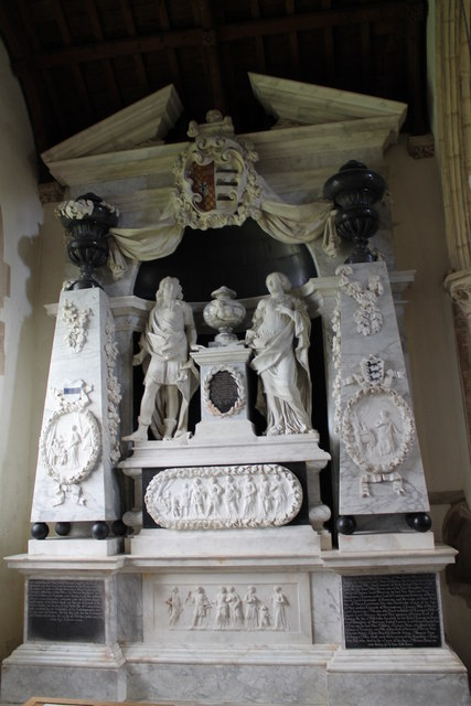 Das Monument des Viscount Campden in der Dorfkirche von Exton.    © Copyright J.Hannan-Briggs and   licensed for reuse under this Creative Commons Licence.