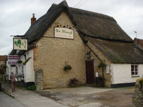 The Plough in Great Haseley. Eigenes Foto.