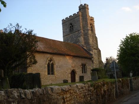 Die Dorfkirche von Cuddington. Eigenes Foto.