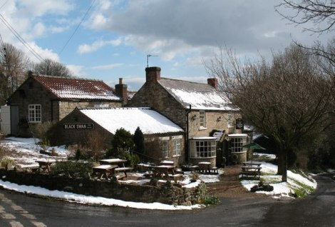 The Black Swan in Oldstead.    © Copyright Gordon Hatton and   licensed for reuse under this Creative Commons Licence.