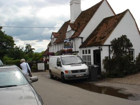 The Bull and Burcher in Turville (Buckinghamshire). Eigenes Foto.