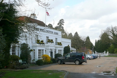 The Wellington Arms in Stratfield Turgis (Hampshire).    © Copyright Graham Horn and   licensed for reuse under this Creative Commons Licence.