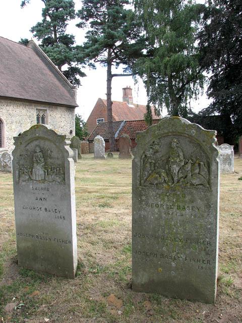 Die Grabsteine von Ann und George auf dem Friedhof von St Mary the Virgin.   © Copyright Evelyn Simak and   licensed for reuse under this Creative Commons Licence.
