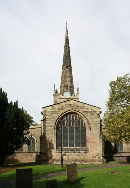 St Mary's Church in Hinckley.    © Copyright John Salmon and   licensed for reuse under this Creative Commons Licence.