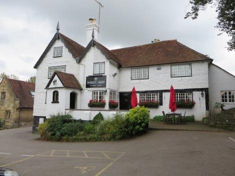 The Dorset Arms, wo wir ein Prawn Sandwich und ein Pint zu uns nahmen. Eigenes Foto.