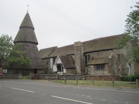 St Augustine's in Brookland (Kent).   © Copyright Julian P Guffogg and   licensed for reuse under this Creative Commons Licence.