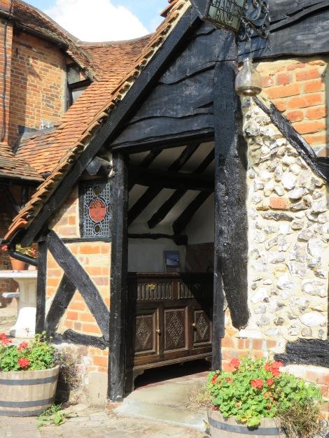 Der Eingang zum Restaurant. Eigenes Foto.