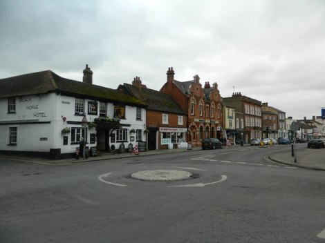 Cornmarket in Thame (Oxfordshire).    © Copyright John Lord and   licensed for reuse under this Creative Commons Licence.