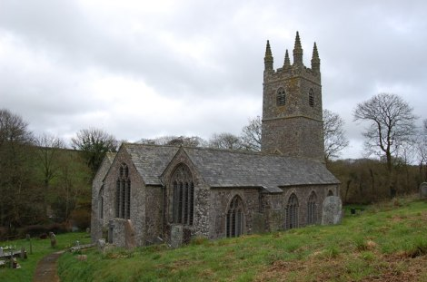 St Swithin's in Launcells (Cornwall); hier fand Sir Goldsworthy Gurney seine letzte Ruhestätte.    © Copyright Philip Pankhurst and   licensed for reuse under this Creative Commons Licence.