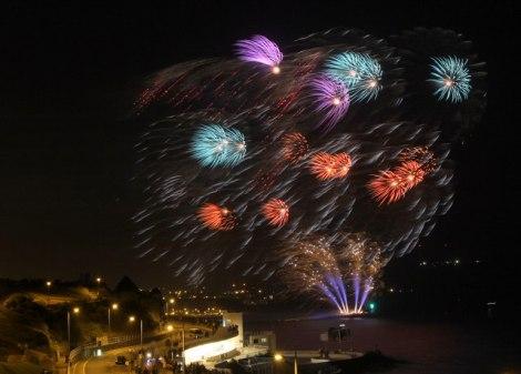 Die British Fireworks Championships 2012. Der Sturm machte den Feuerwerkern schwer zu schaffen.  © Copyright Christine Matthews and licensed for reuse under this Creative Commons Licence.