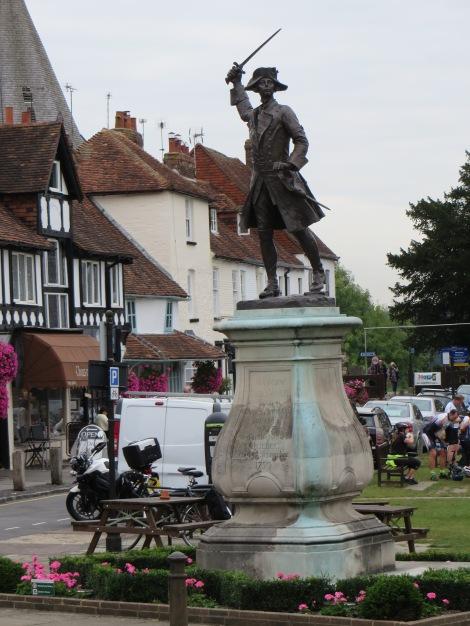 General Wolfe auf dem Village Gren von Westerham. Eigenes Foto.