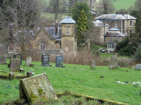St Peter's Churchyard in Edensor.   © Copyright Trevor Littlewood and licensed for reuse under this Creative Commons Licence.