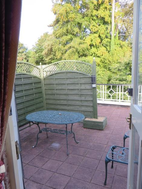 Die Dachterrasse unseres Zimmers. Eigenes Foto.