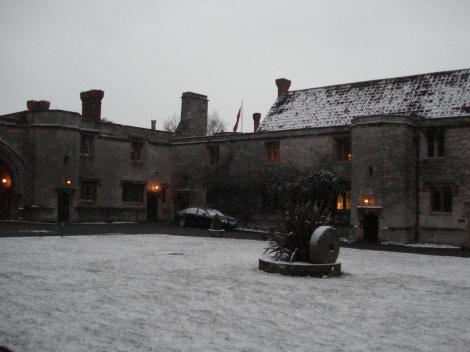 Der Innenhof des Castles; von dem aus es zu den Hotelsuiten geht.