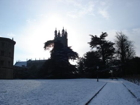 Die Kirche St Mary's, die direkt an das Thornbury Castle Hotel angrenzt.