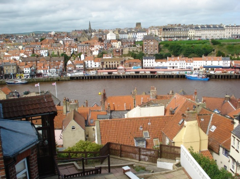 Beautiful Yorkshire. Hier: Blick auf die Stadt Whitby an der Ostküste. Eigenes Foto.
