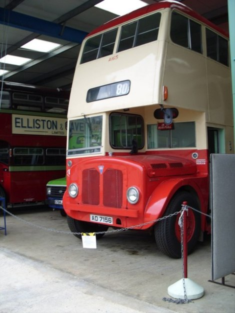 Einer der AEC-Busse im Museum.    © Copyright Paul Shreeve and   licensed for reuse under this Creative Commons Licence.