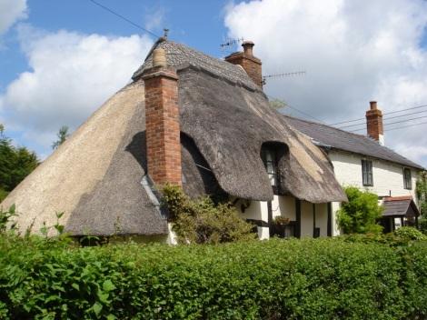 In diesem hübschen Cottage in Welford-on-Avon verbrachte ich einmal eine Woche. Eigenes Foto.