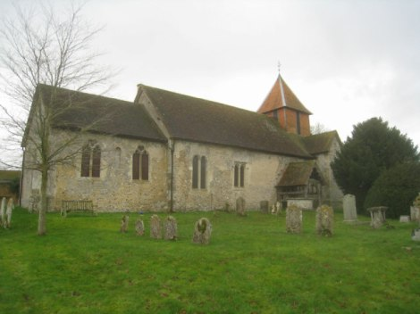 All Saints in Monk Sherborne (Hampshire).    © Copyright Basher Eyre and   licensed for reuse under this Creative Commons Licence.