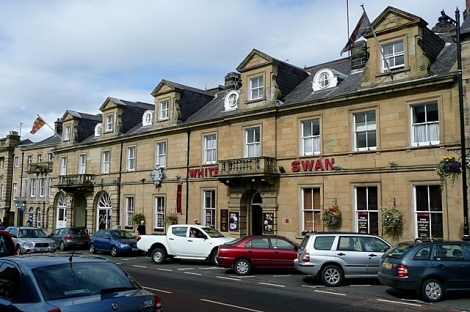 The White Swan Hotel in Alnwick (Northumberland).    © Copyright Graham Horn and   licensed for reuse under this Creative Commons Licence.
